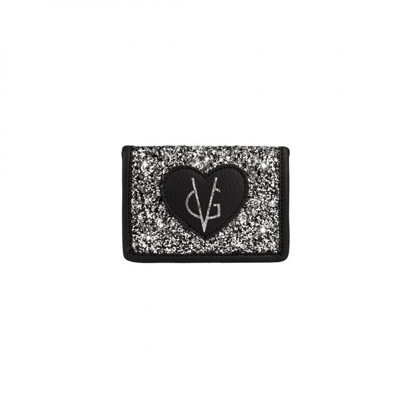 ❤️VG Low Cost-Too Chic portacarte nero & glitter sale e pepe