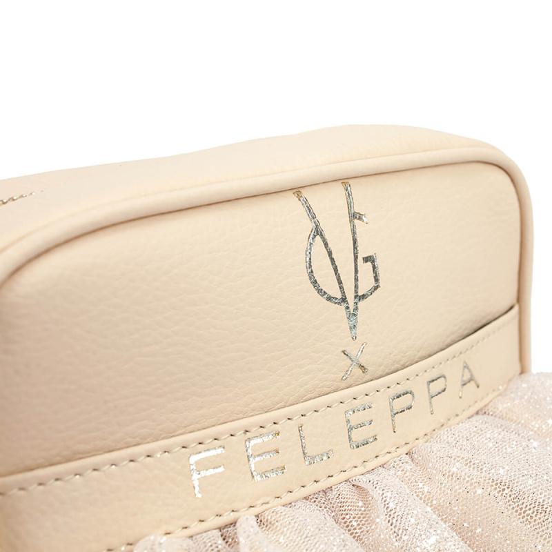 VG X FELEPPA - Mini saponetta rouches in tulle lurex cipria