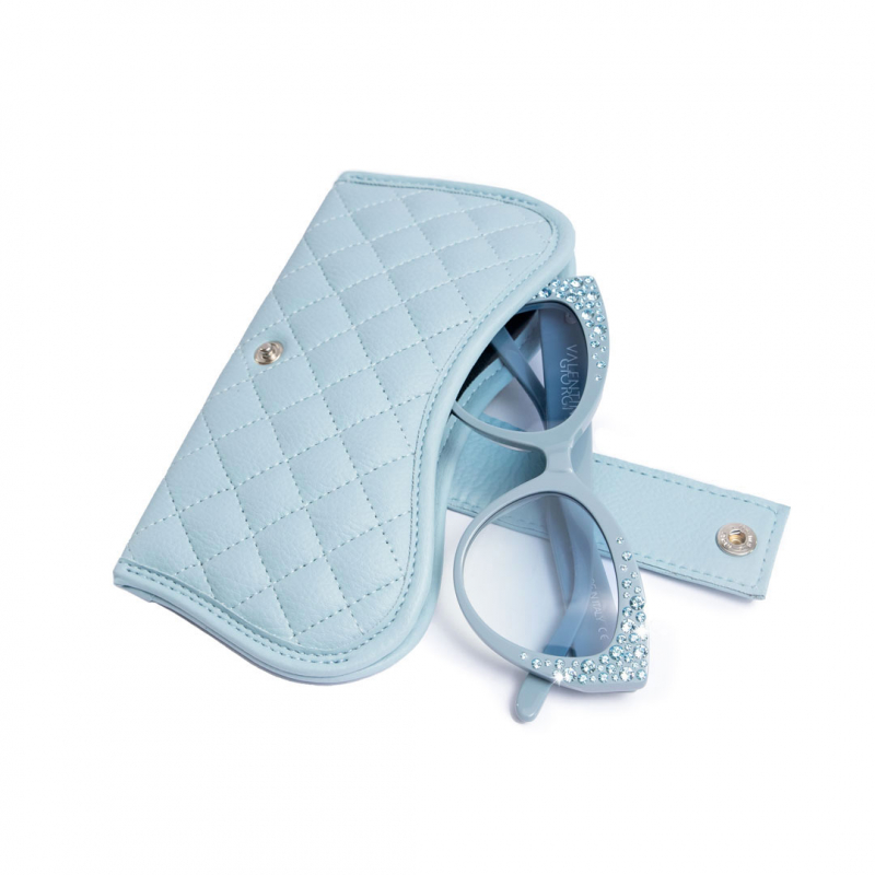 ❤️ VG occhiali da sole swarovski azzurro dusty
