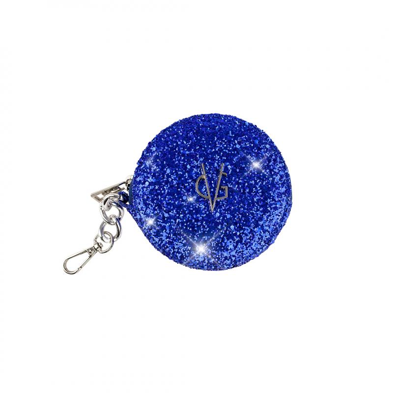 VG Portamonete tondo glitter blu