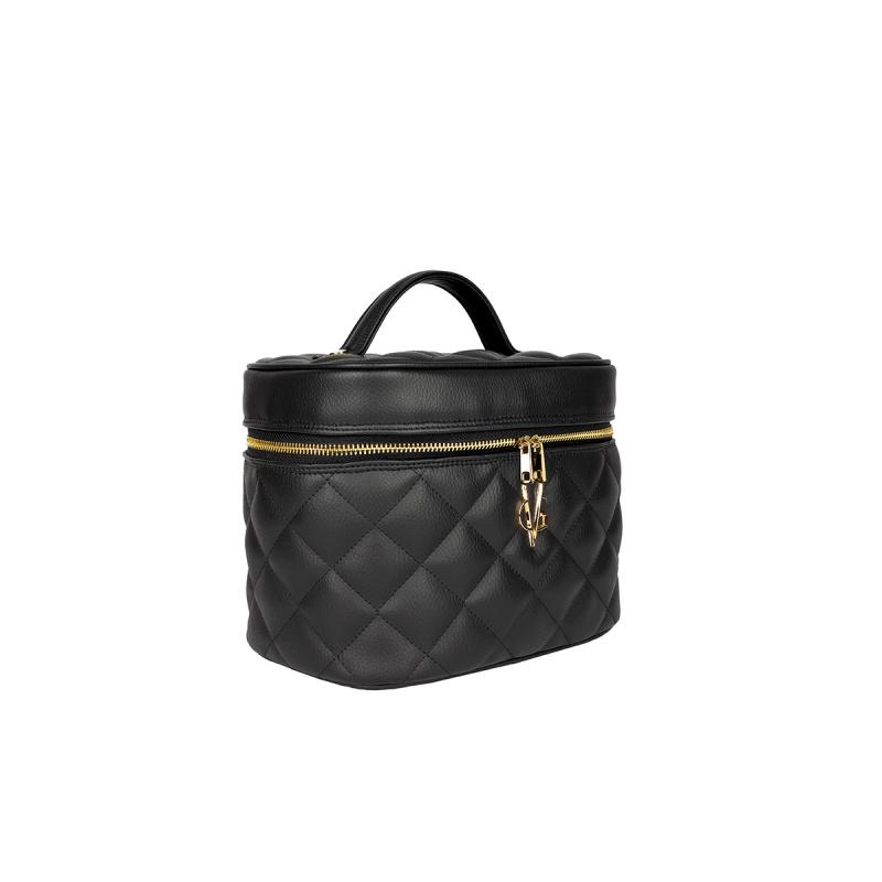 VG Beauty case trapuntato nero
