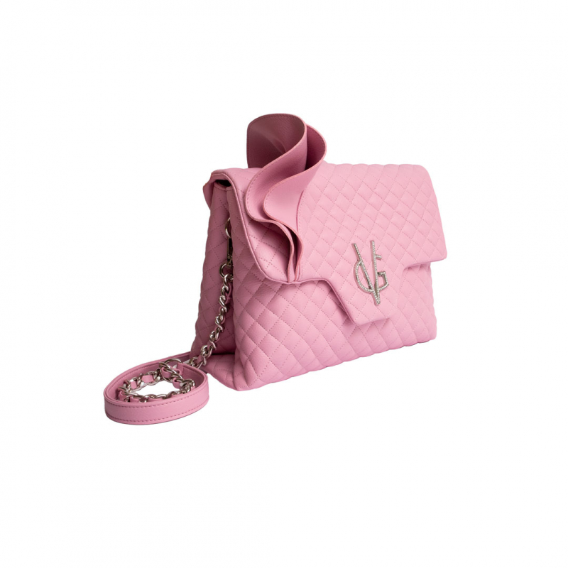 VG Borsa a tracolla rouches rosa candy