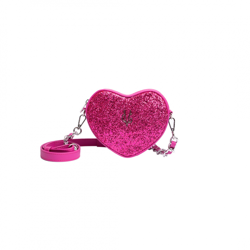 ❤️ VG Set mamy&baby cuore glitter fucsia