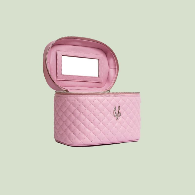 VG Beauty Case trapuntato rosa candy con specchio