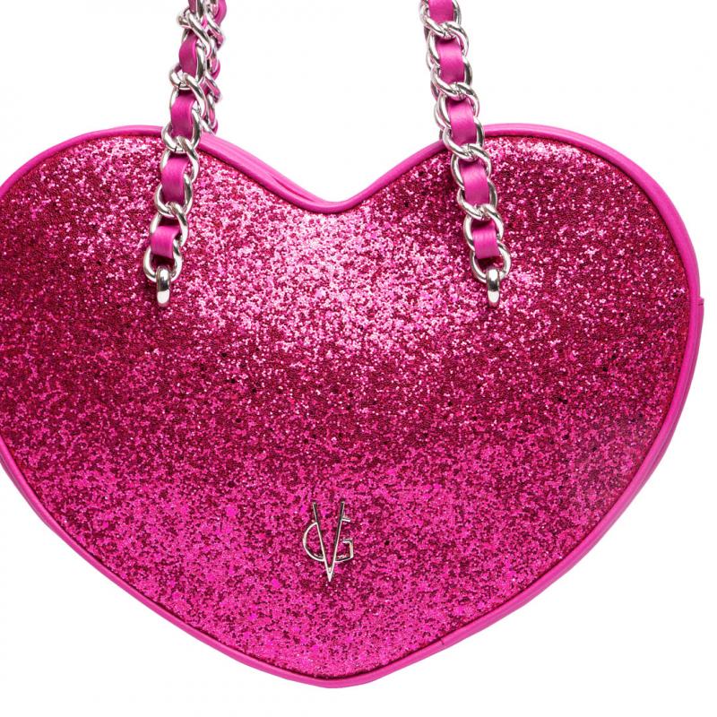 VG cuore grande glitter fucsia