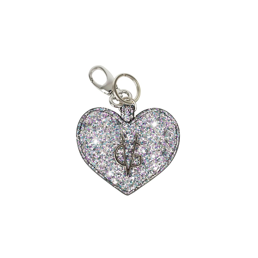 VG portachiavi cuore glitter rosa unicorn