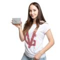 ❤️VG Low Cost-Too Chic portacarte grigio & glitter argento