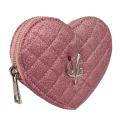VG portamonete cuore glitter sottile rosa