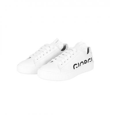 VG Sneakers bianca & logo nero