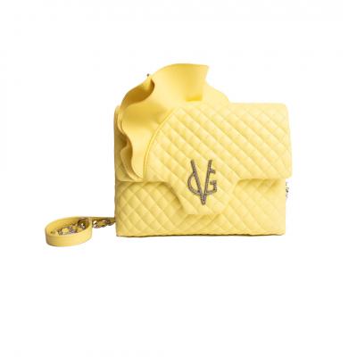 VG Borsa a tracolla rouches giallo vanilla