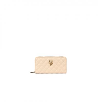 VG portafoglio trapuntato rosa cipria