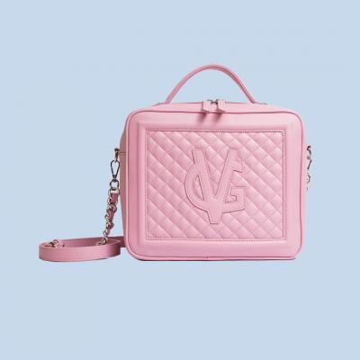 VG Cubotto medio trapuntato rosa candy