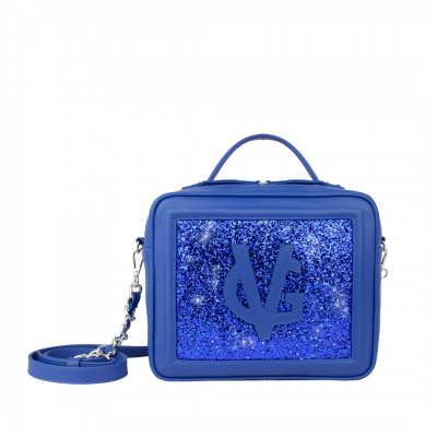 VG Cubotto medio blu elettrico & glitter blu