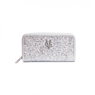 VG portafoglio glitter argento