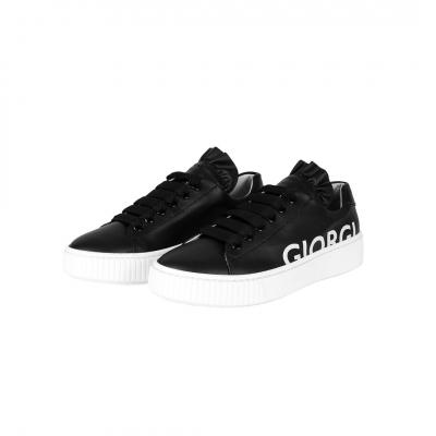 VG Sneakers nera & logo bianco