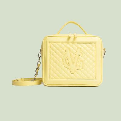 VG Cubotto medio trapunto giallo vanilla