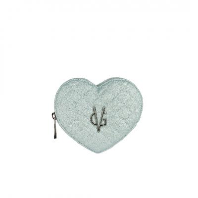 VG portamonete cuore glitter sottile azzurro