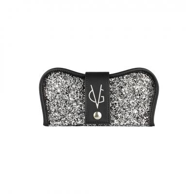 VG custodia porta occhiali nera & glitter sale e pepe