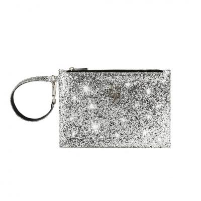 VG Bustina glitter argento per borsa personalizzata