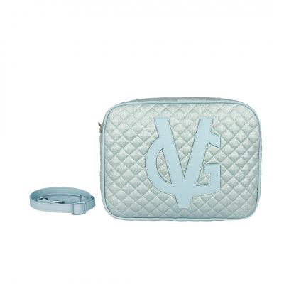 VG saponetta grande trapuntata glitter sottile azzurro