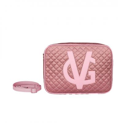 VG saponetta grande trapuntata glitter sottile rosa
