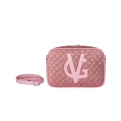 VG  saponetta piccola trapuntata glitter sottile rosa