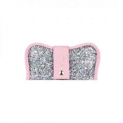 VG custodia porta occhiali rosa candy & glitter unicorn