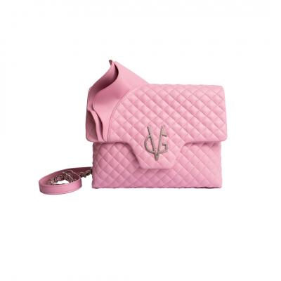 PREORDINALA ORA - VG Borsa a tracolla rouches rosa candy