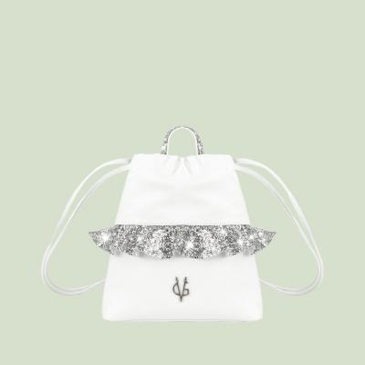 VG Zaino frappa baby glitter argento