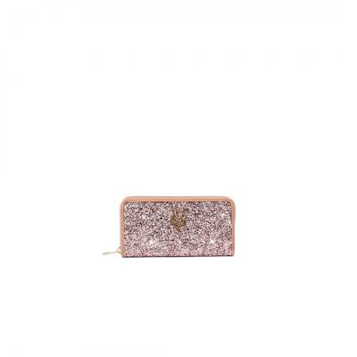 VG portafoglio glitter cipria