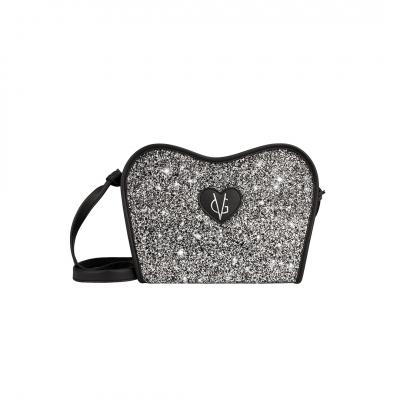 ❤️VG Low Cost-Too Chic borsa saponetta grande nera & glitter sale e pepe