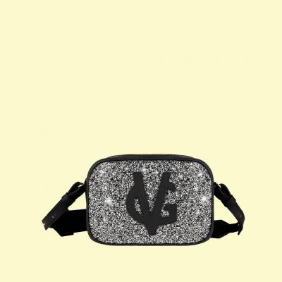 VG saponetta piccola nera & glitter sale e pepe