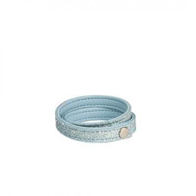 ❤️VG braccialetto glitter Azzurro Dusty