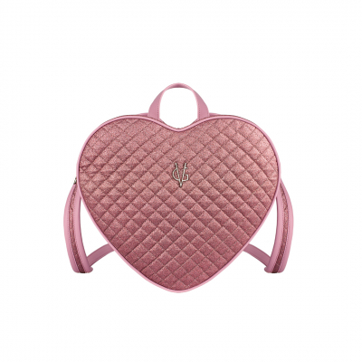 VG zaino cuore glitter sottile trapuntato rosa