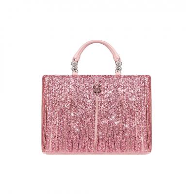 VG Borsa frange rosa&glitter rosa